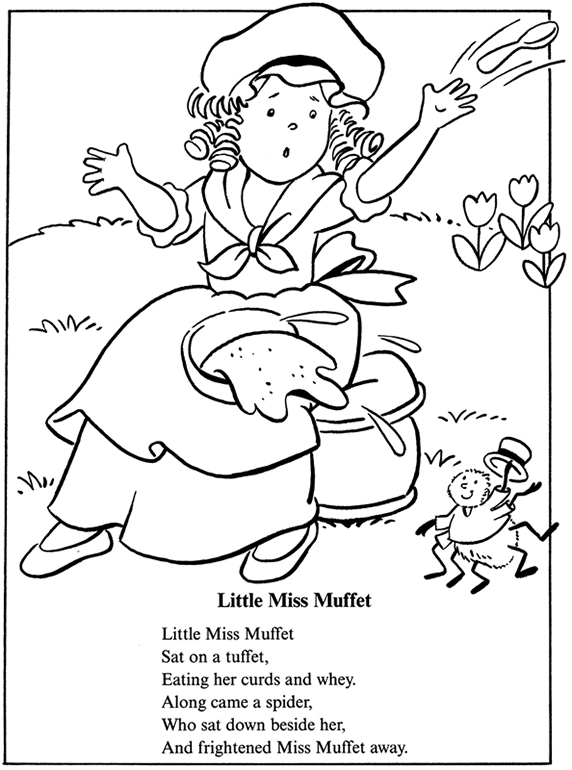 Little Miss Muffet, Tuffets and fun Spiders! title=
