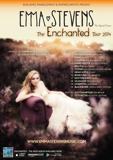 Emma Stevens announces 2014 Headline UK Tour