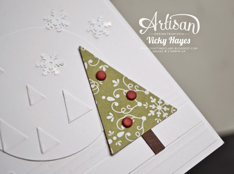 Quick technique for creating a Christmas tree using the Stampin' Up tree punch