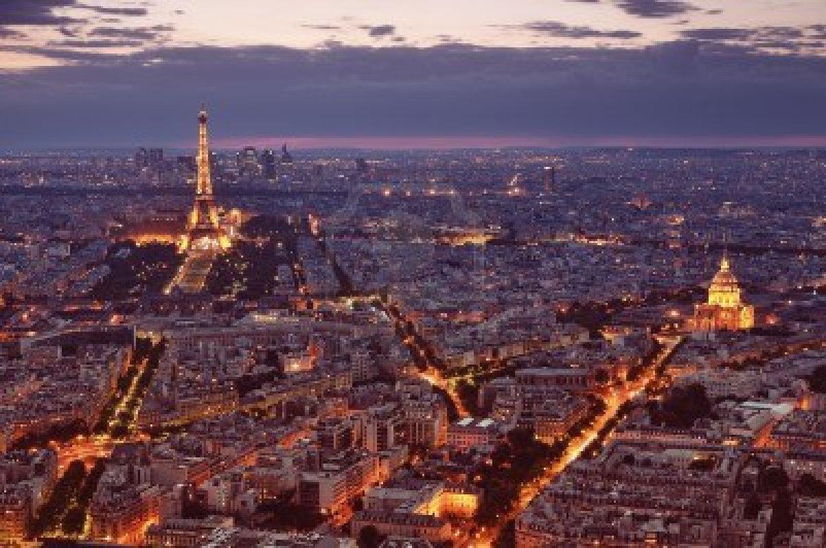 Paris Paris France At Night
