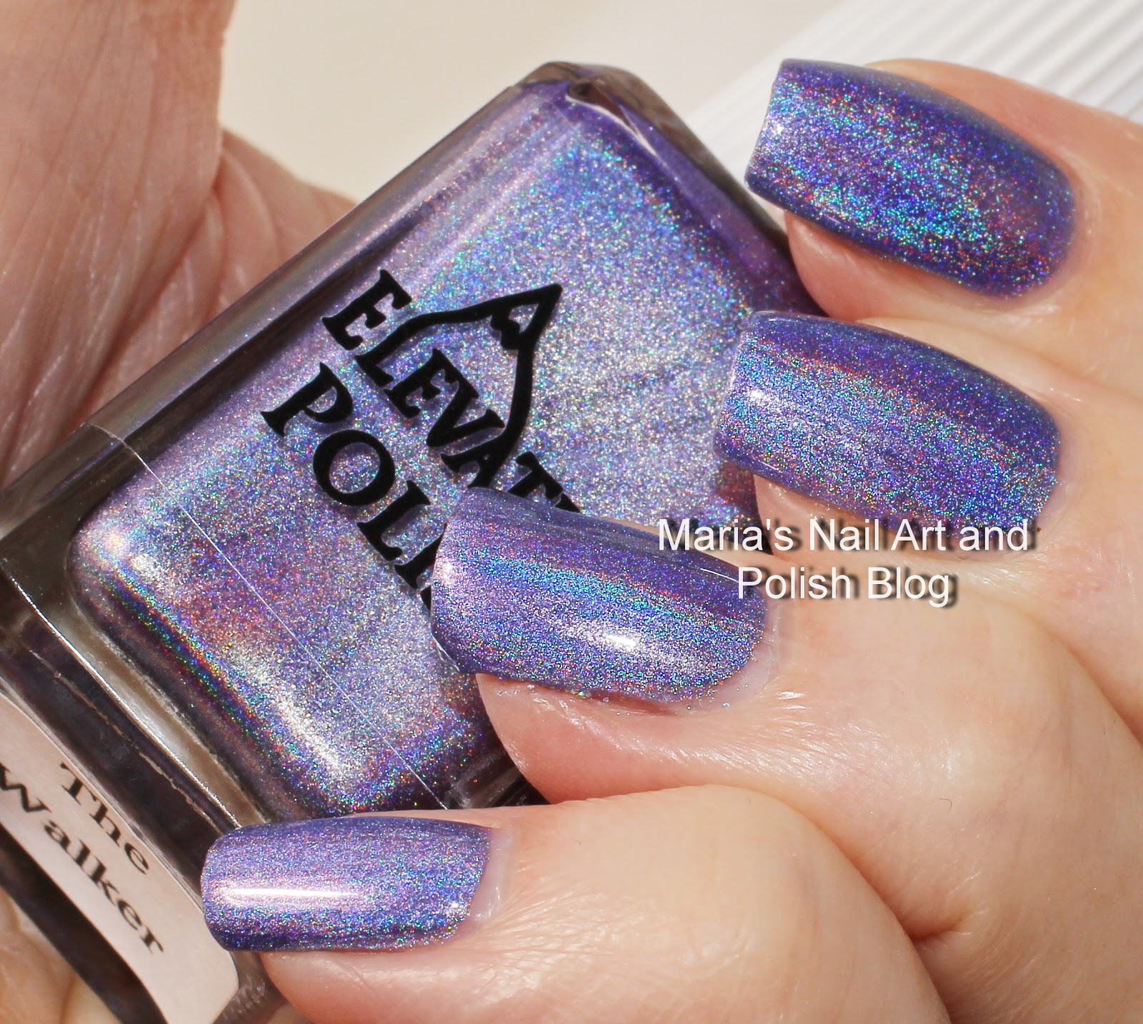 Marias nail art and polish blog elevation polish the walker minneapolis coll february 2015 its a lavender leaning bright purple holo with a very strong effect it is very opaque in one coat but this is two prinsesfo Images