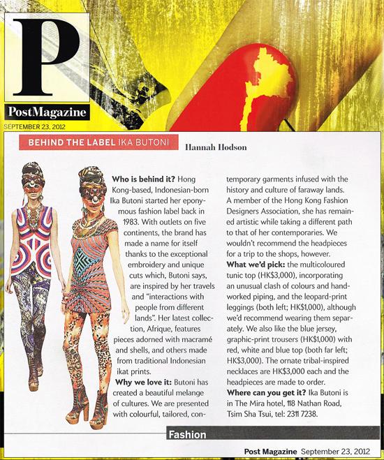 Afrique - IKA BUTONI - Post Magazine