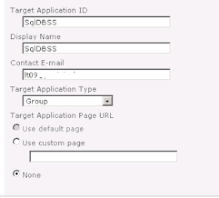Configuration du Secure Store Application pour Sharepoint 2010