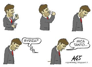 civati, syriza, sinistra satira vignetta