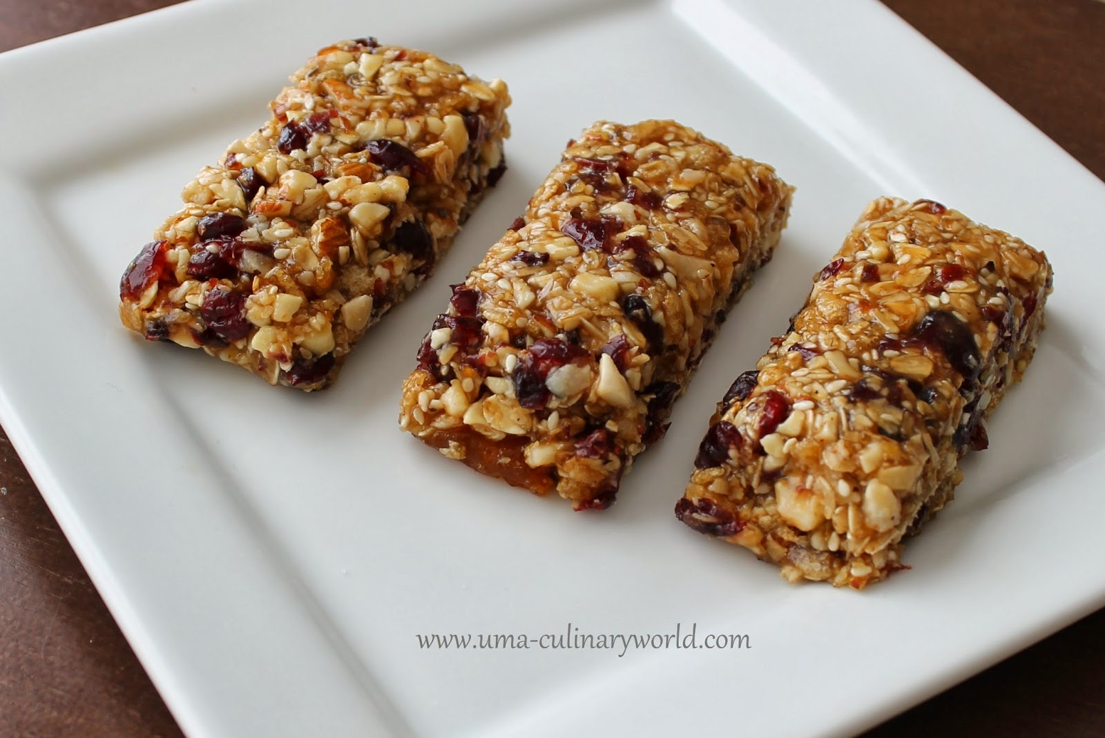 Uma's Culinary World: Homemade Chewy Granola Bars