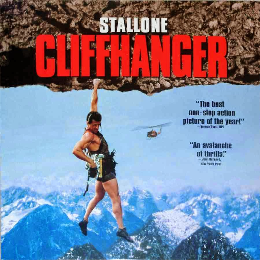 Cliffhanger (Released in 1993) - Action adventure on the mountains - Starring Sylvester Stallone, John Lithgow, Michael Rooker
