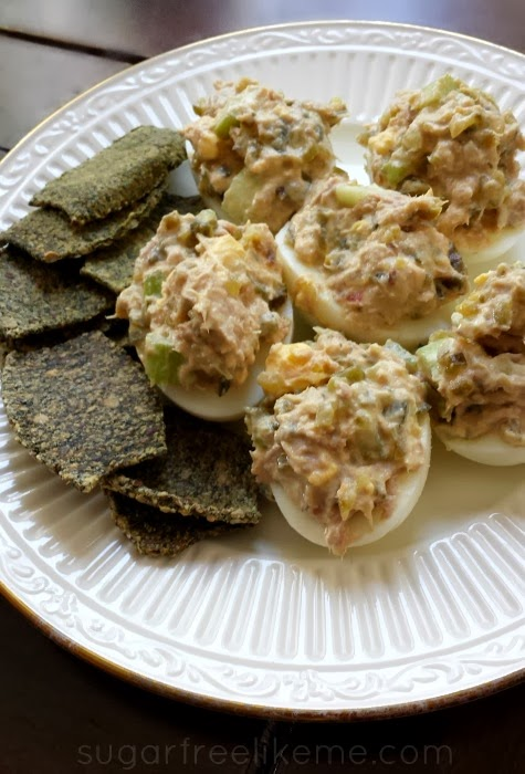 Tuna Salad Stuffed Boiled Eggs