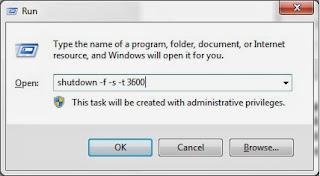 shutdown komputer otomatis dengan waktu ditentukan