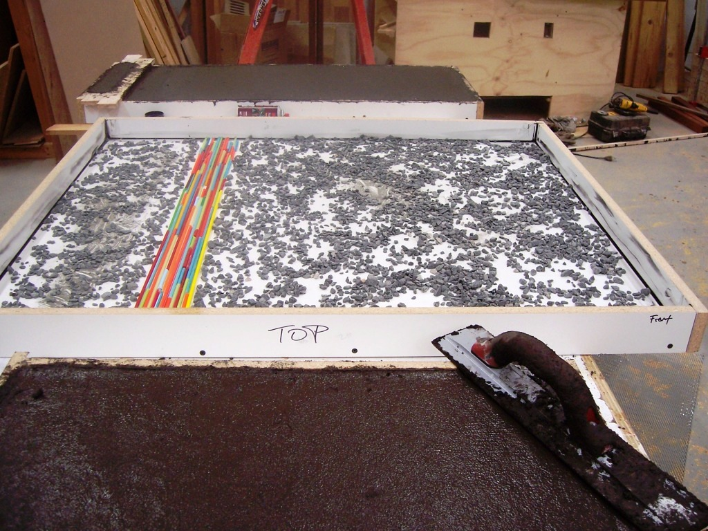 Thinset Concrete Countertops Creating Concrete Countertops How To Avoid Bug Holes Pin Holes