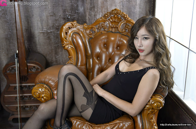 1 Cheon Bo Young in Black-Very cute asian girl - girlcute4u.blogspot.com