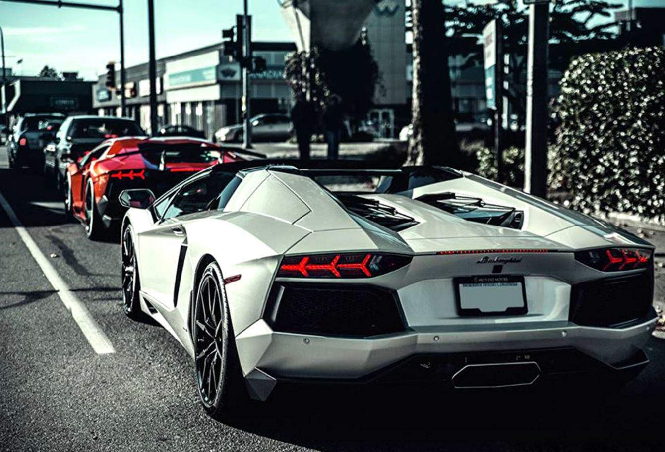 Lamborghini Aventador Red And White Wallpaper Desktop