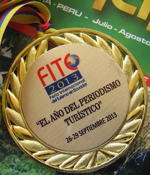 Medalla Fite 2013 / FERIA INTERNACIONAL DE TURISMO EN ECUADOR