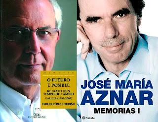 Emilio Pérez Touriño y José María Aznar publican memorias