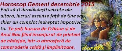 Horoscop Gemeni decembrie 2015
