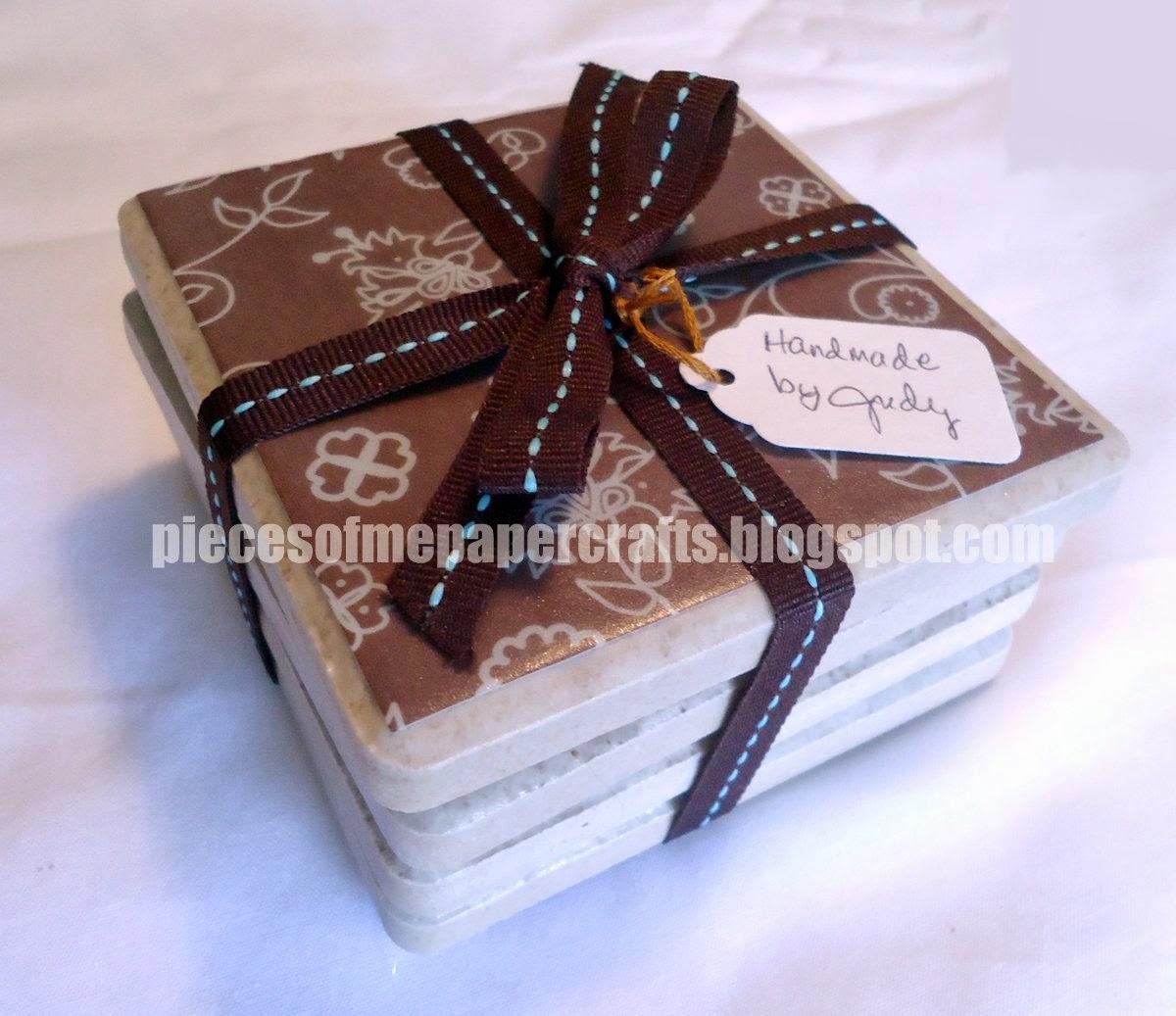 Pieces of me scrapbooking paper crafts tutorial diy ceramic ceramic tile coasters dailygadgetfo Image collections