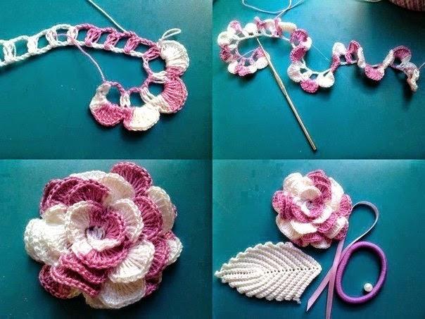 Cómo tejer flores con ganchillo - 2 modelos