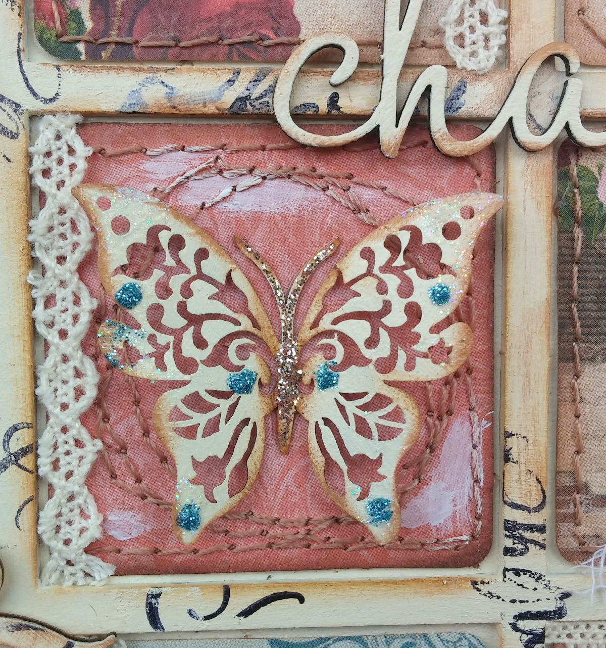 shabby chic wall art by gabrielle pollacco