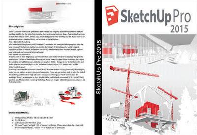 SketchUp Pro Português-BR x86-Bit (32-Bit) 2015 DVD Capa