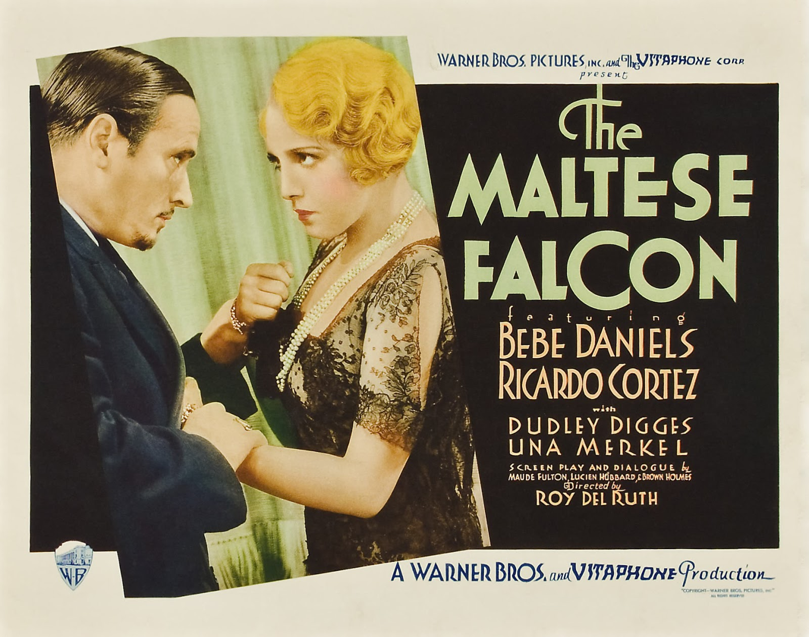 The Maltese Falcon, starring Ricardo Cortez and Bebe Daniels