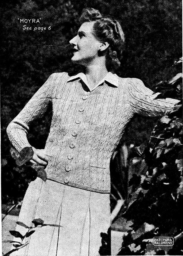 The Vintage Pattern Files 1940s Knitting Patons Baldwins No184