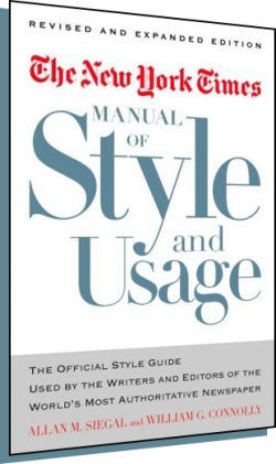 The New York Times Manual of Style