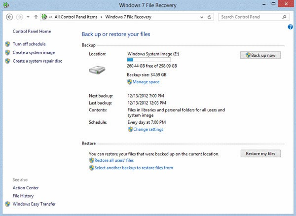 Safest Way To Back Up And Restore Data In Windows 7 & 8 4