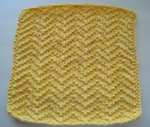 Free Knitting Pattern Dishcloths Using Size 8 Needles : Jennifer and Eds Blog: Knitted Washcloth #4