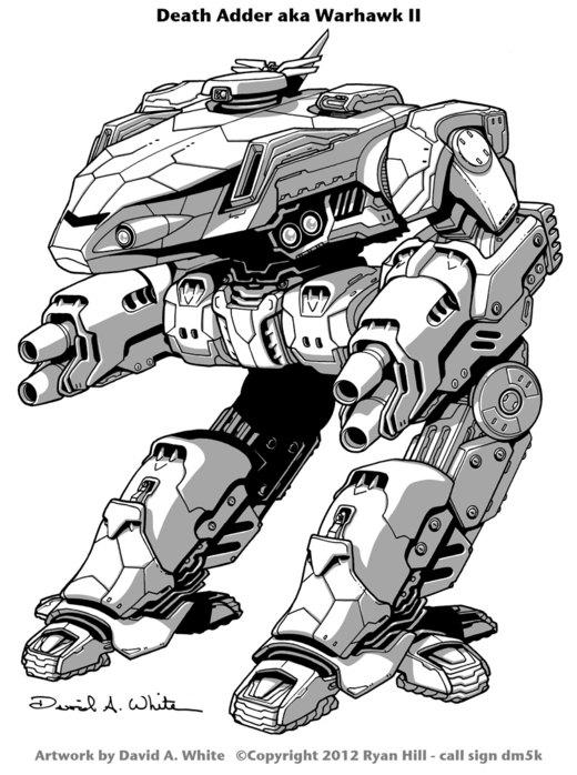 Death Adder Mech (Warhawk II) por Mecha-Master