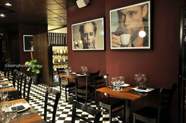 Dark Burgundy Dining Room