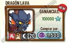 imagen de la formula del dragon lava