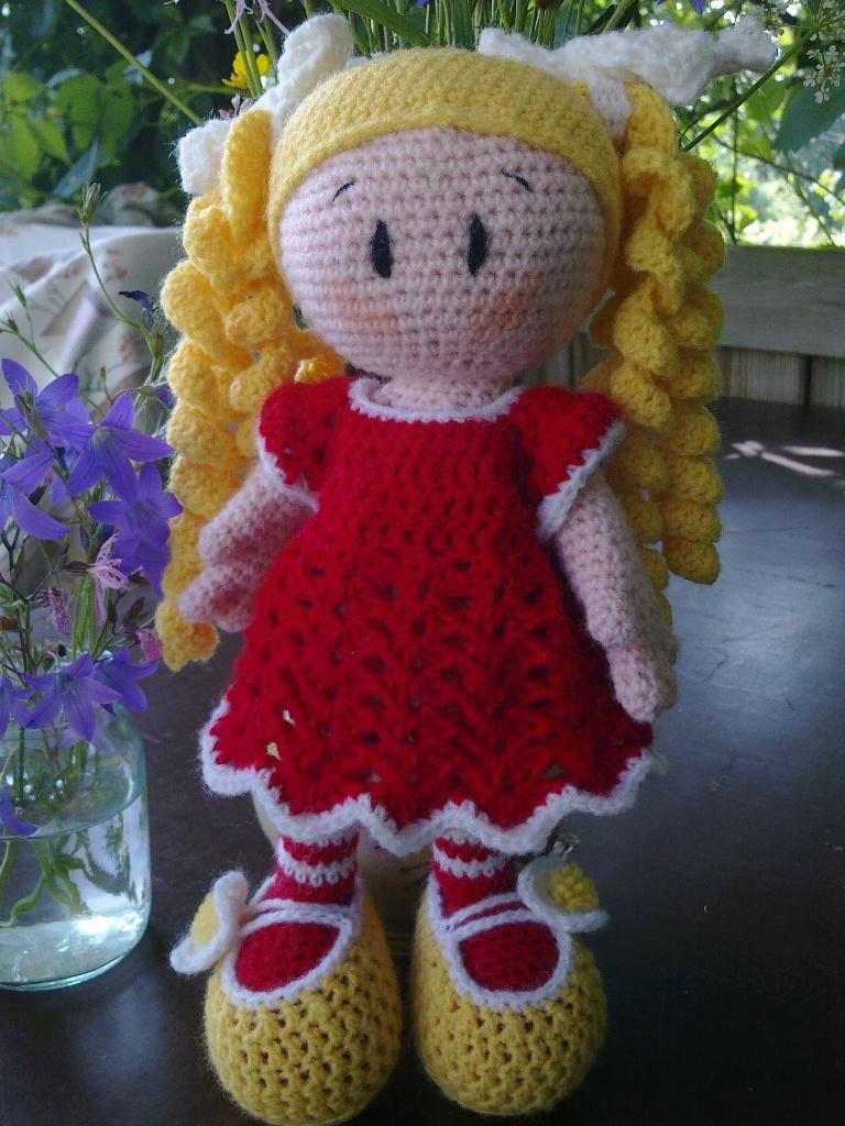 Вязание игрушек крючком кукол 39