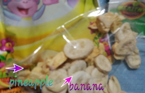 healthy munchy nickoledeon pineapple and banana snacks