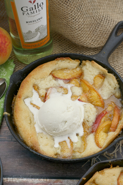 Peach Riesling Buckle | girlichef.com