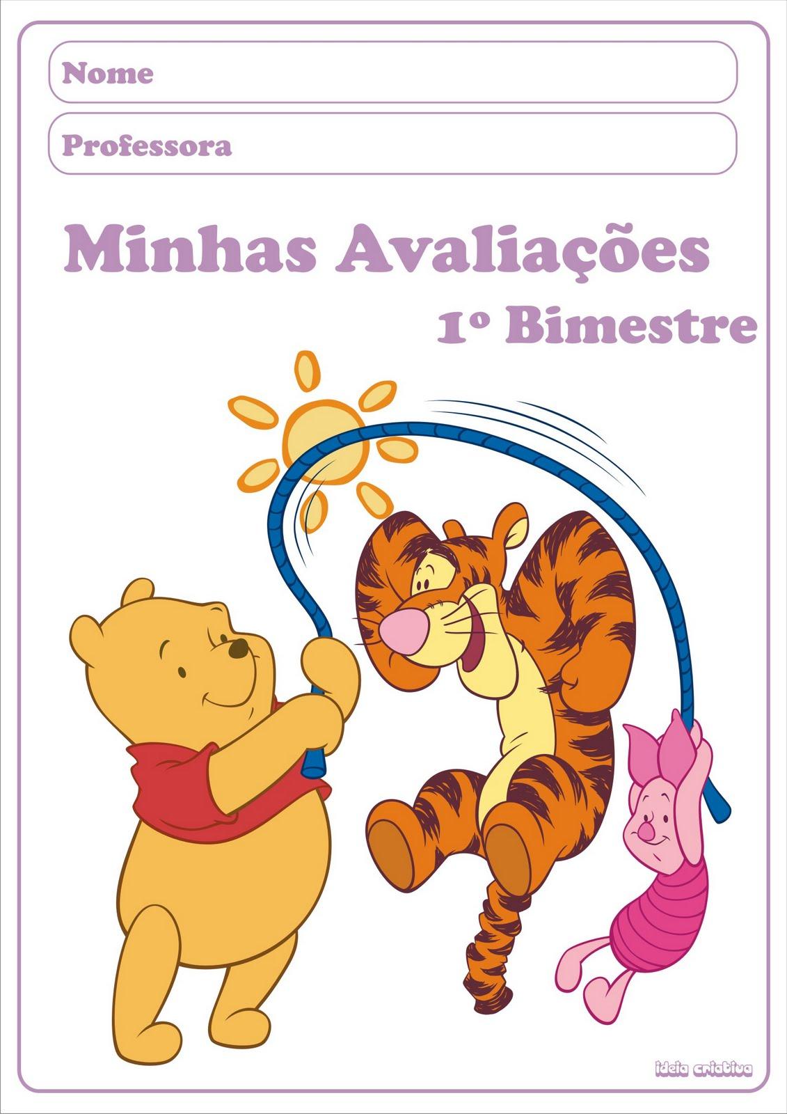 Capas De Avalia    Es 1   Bimestre Ursinho Pooh