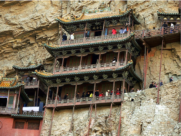 Hanging temple in mount hengshan china facts pod
