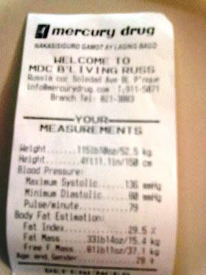 Mercury Drug Body Measurements Machine