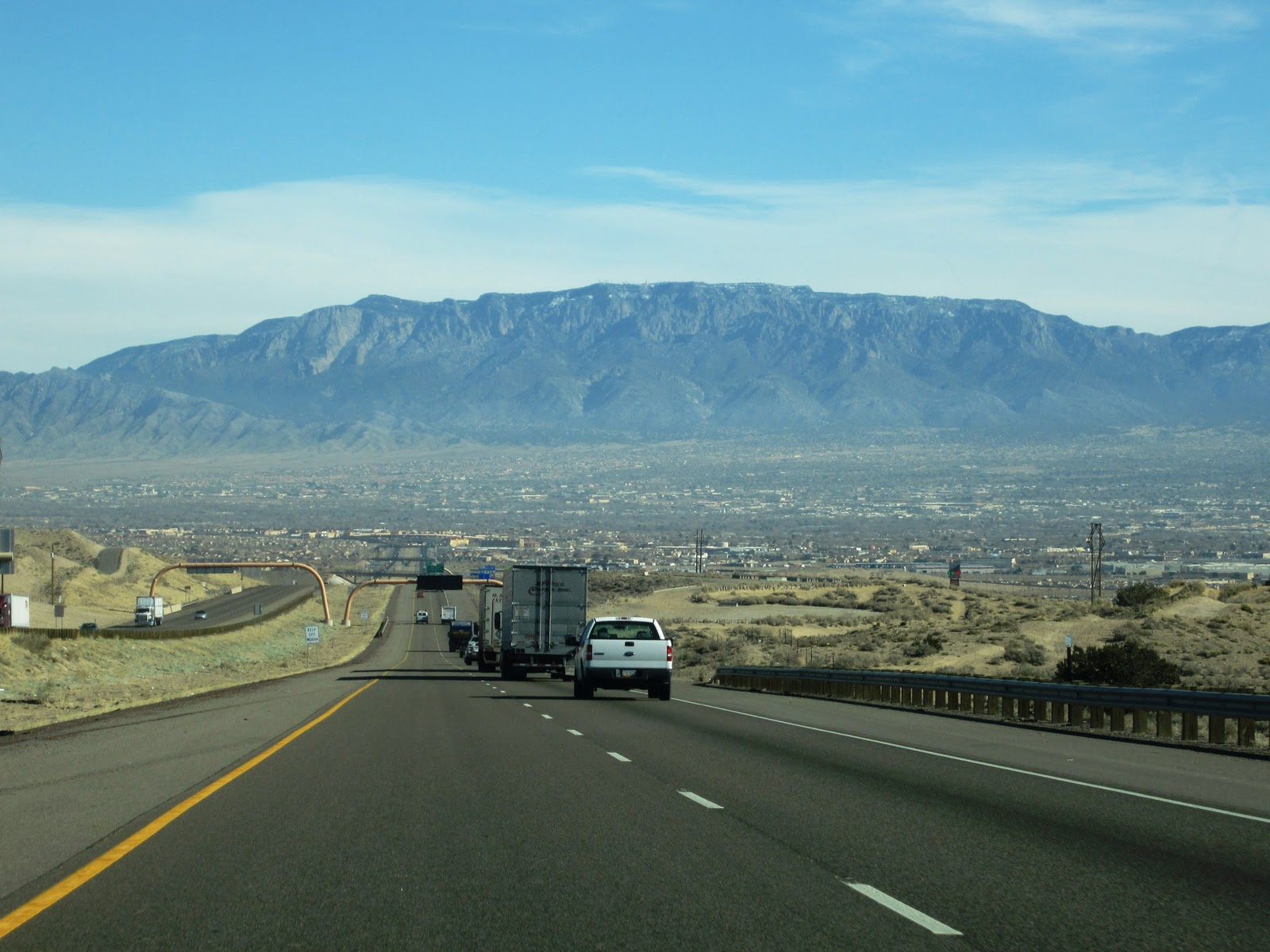 View Of Sandia Mountain Range From West Albuquerque