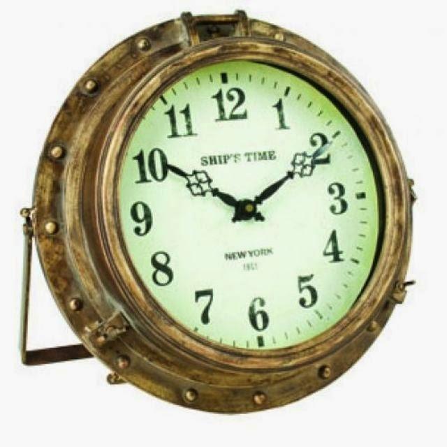 Iron Rustic Porthole Clock