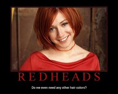 i want a redhead