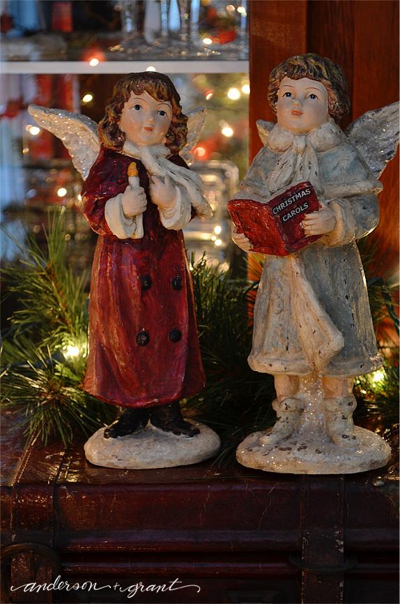 Vintage looking angels for Christmas   www.andersonandgrant.com