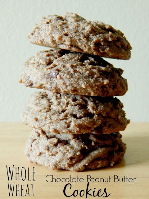 whole wheat chocolate peanut butter cookies (sweetandsavoryfood.com)