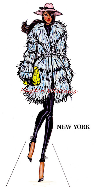 hayden williams fashion illustration sketch drawing new york fashion week