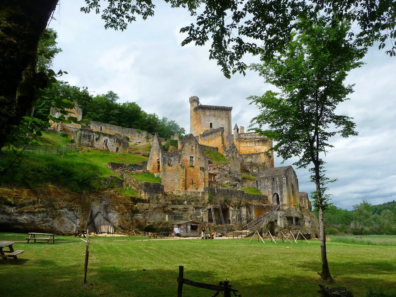 A castle in the forest near Sarlat