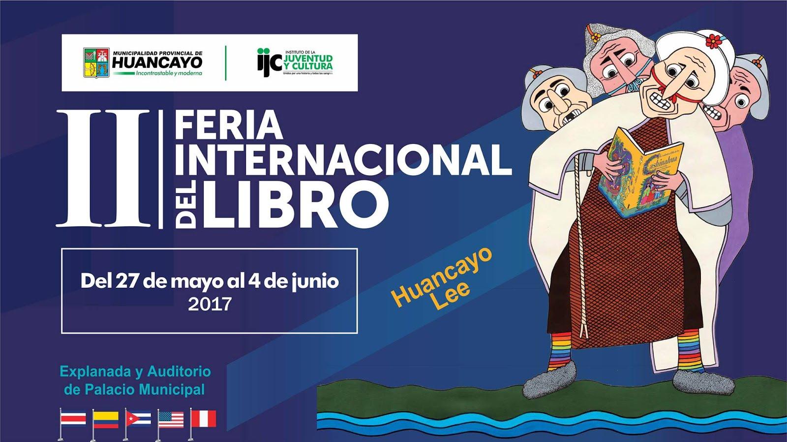 En II Feria Internacional del Libro de Huancayo (27 mayo - 4 junio 2017)