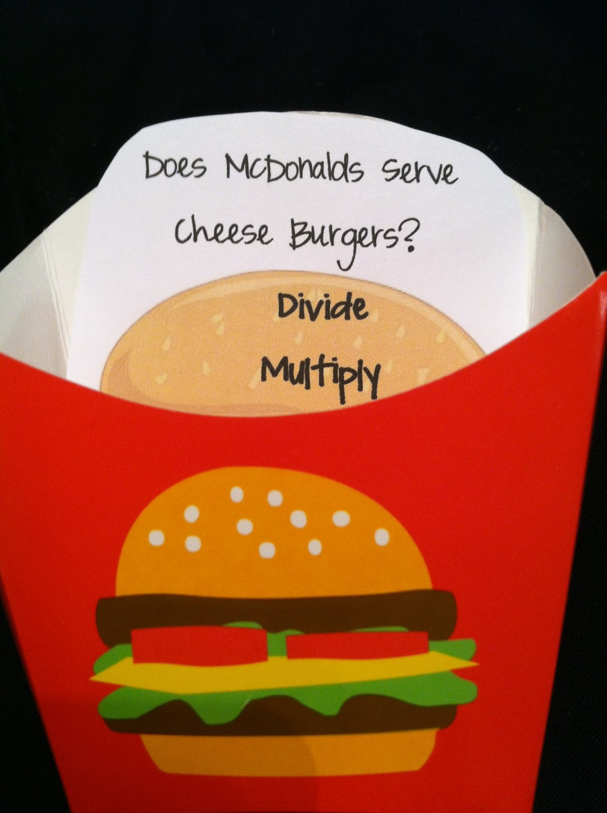 A Teacher without a Class: Long Division and Cheeseburgers!