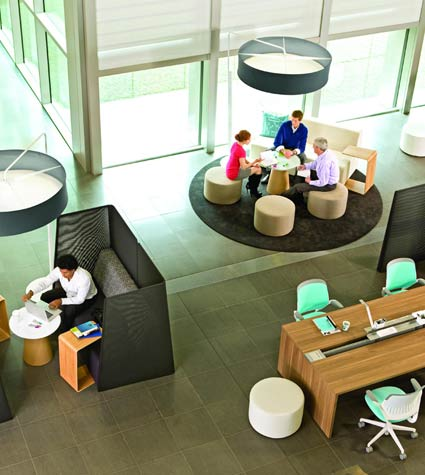 Design of Costumer Meeting Room or Lobby Interior in Bank and Offices