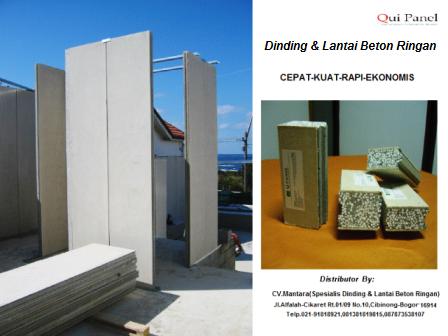Qui Panel ( Dinding & Lantai Beton Ringan )