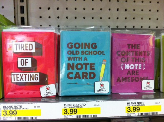 Target addict new at target amy smyth made it while persuing the shelves at target the other day i found this hilarious new line of greeting cards and stationery called amy smyth made it as shown here m4hsunfo
