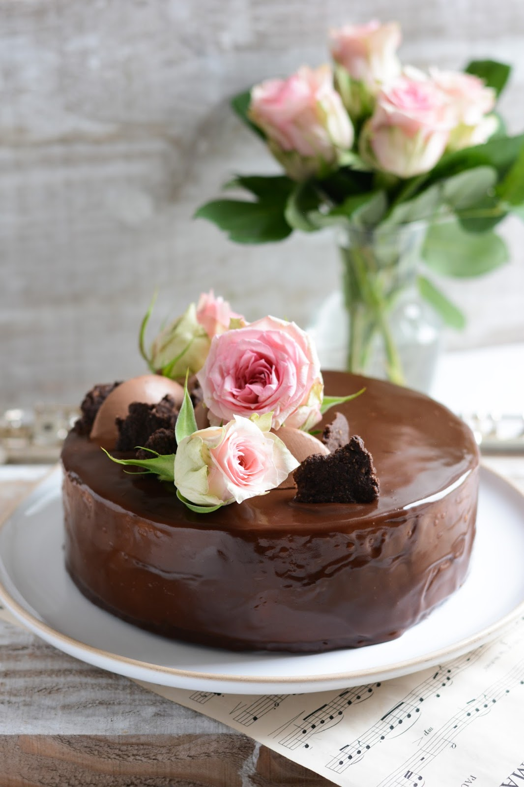 Chic, chic, chocolat...: Musik, le gâteau danniversaire chocolat et ...