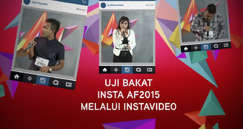 Ujibakat Instagram AF2015